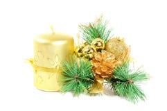 Christmas decor on white Royalty Free Stock Image
