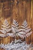 Christmas decor on wooden background Stock Image