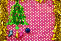 Christmas decorate board Royalty Free Stock Images