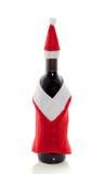 Christmas decorated bottle of wine Stock Image