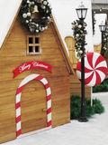 Christmas decorated cabins Royalty Free Stock Photography