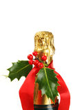 Christmas decorated champagne Royalty Free Stock Photography