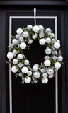 Christmas decorated door Royalty Free Stock Photo
