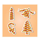 Christmas Decorated Element. Modern Christmas Object decorated element vector illustration