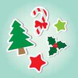 Christmas Decorated Element. Simple Christmas Object decorated element royalty free illustration