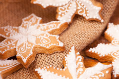 Christmas decorated gingerbread cookies Stock Images