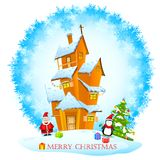 Christmas decorated House Stock Photography