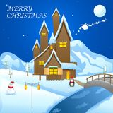 Christmas decorated House Royalty Free Stock Images