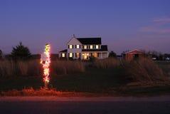 christmas decorated mailbox rural στοκ εικόνα