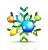 Christmas decorated modern snowflake  Stock Photos