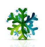 Christmas decorated modern snowflake icon Stock Image