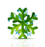 Christmas decorated modern snowflake icon Stock Images
