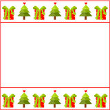 Christmas decorated paper Royalty Free Stock Photo