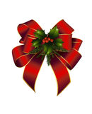 Christmas decorated red bow Royalty Free Stock Image