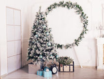 Christmas decorated room Stock Photo