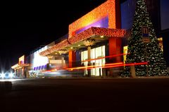 Christmas decorated shopping center Royalty Free Stock Photography