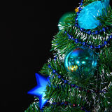 Christmas decorated tree Stock Image