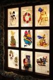 Christmas decorated window Stock Photos