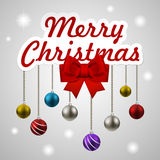 Christmas decorating elements set Royalty Free Stock Photo