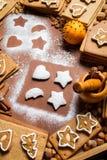 Christmas decorating gingerbread cookies Stock Photos