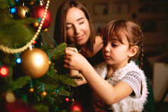Christmas decorating Stock Photos