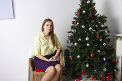 Christmas Decorating room Royalty Free Stock Photography
