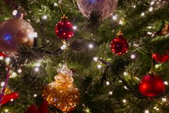 Christmas decorating royalty free stock images