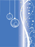 Christmas decoration. Vector illustration of baubles on a christmas background Stock Image