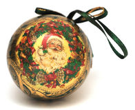 Christmas decoration. A round Christmas decoration against white Royalty Free Stock Image
