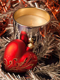 Christmas Decoration. Christmas and New Year decorations. Close up Royalty Free Stock Photos