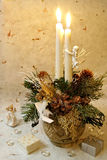 Christmas decoration. With candles and angle Stock Photography