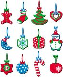 Christmas Decoration. In red, green and blue Royalty Free Stock Images