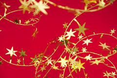 Christmas decoration. With red background Stock Photography