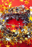 Christmas decoration. With red background Royalty Free Stock Photography
