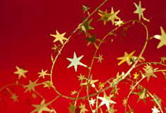 Christmas decoration. With red background Stock Photos