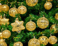 Christmas decoration. On Christmas tree Stock Photos