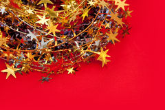 Christmas decoration. With red background Stock Image