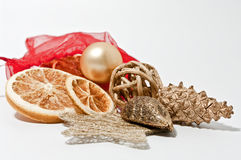 Christmas decoration. Decoration for christmas on white background Stock Images