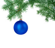 Christmas Decoration. Beautiful image of Christmas Decoration isolated on white royalty free stock images