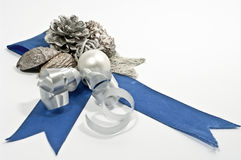 Christmas Decoration. In blue and silver Royalty Free Stock Image