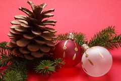Christmas decoration. S on a red background Royalty Free Stock Image