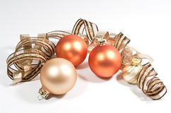 Christmas decoration. With curled ribbons Stock Photo