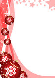 Christmas decoration. With glass balls and snowflakes Stock Image