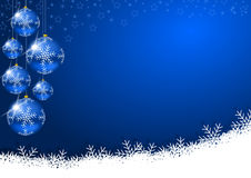 Christmas decoration. With glass balls and snowflakes Stock Photo