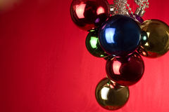 Christmas decoration. On red background Stock Image