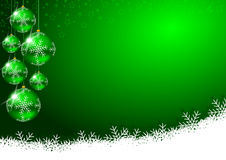 Christmas decoration. With glass balls and snowflakes Stock Photography