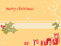 Christmas decoration. Illustration of gifts on a christmas background Stock Photos