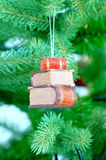 Christmas decoration. On a branch of the natural fir-tree Royalty Free Stock Photo