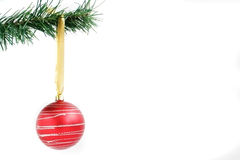 Christmas decoration. S hanging from a fir branch Stock Photography