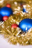 Christmas decoration. With chain and balls Royalty Free Stock Image